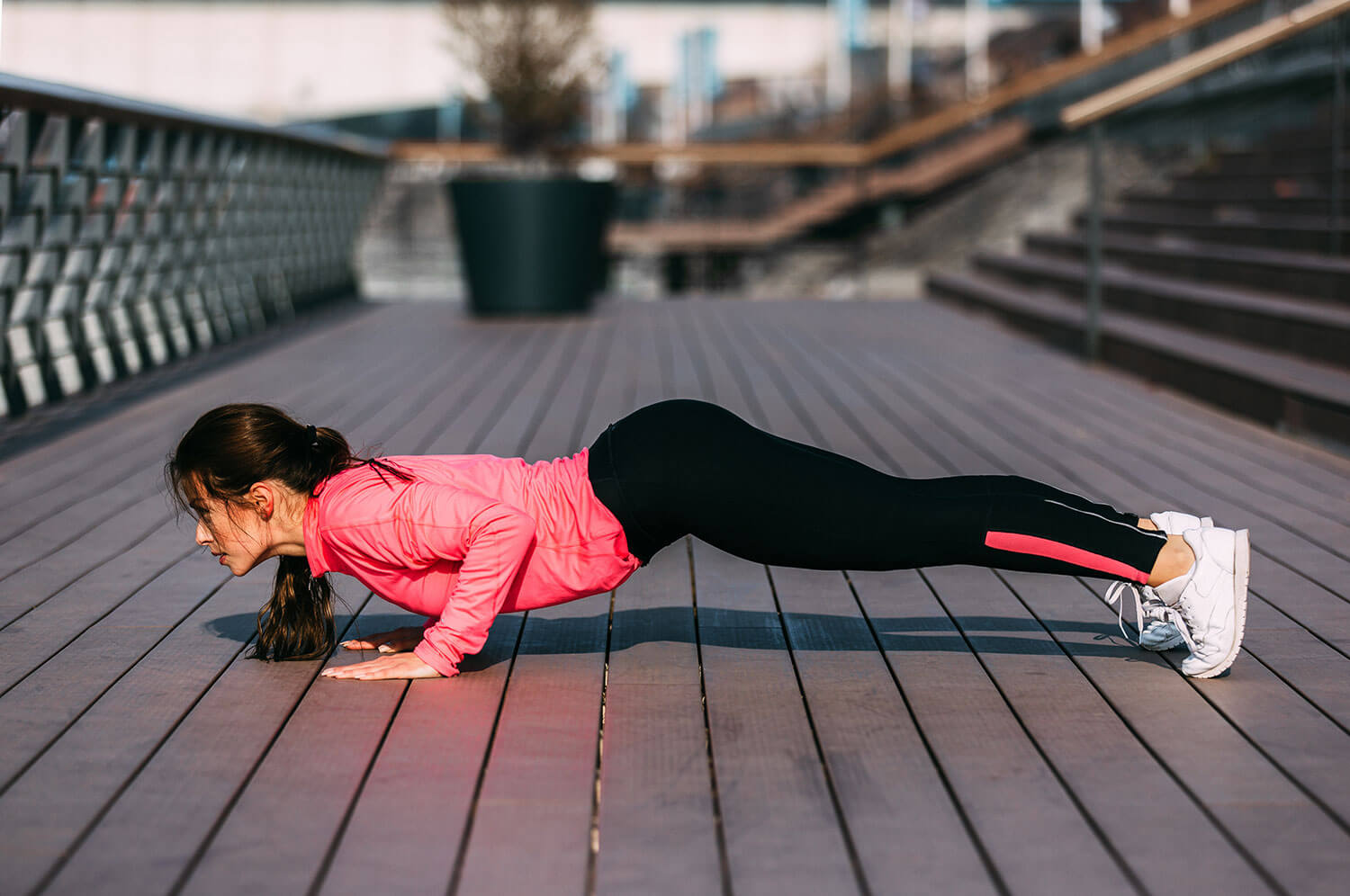 how to stay active, push ups